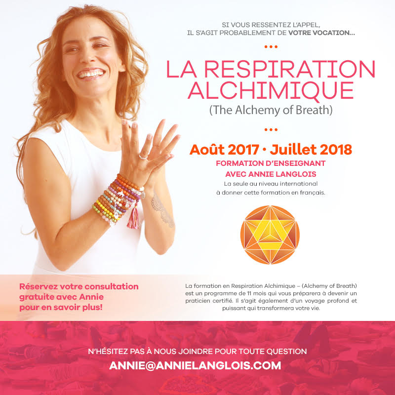La Respiration Alchimique (Alchemy of Breath) - Certification Respiration Consciente 500h